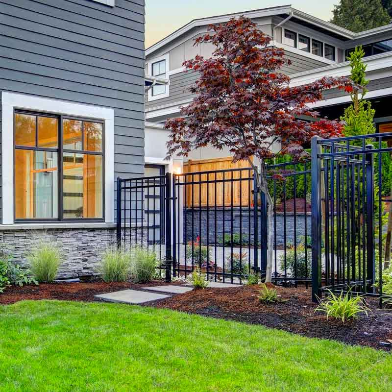 residential ornamental iron fence