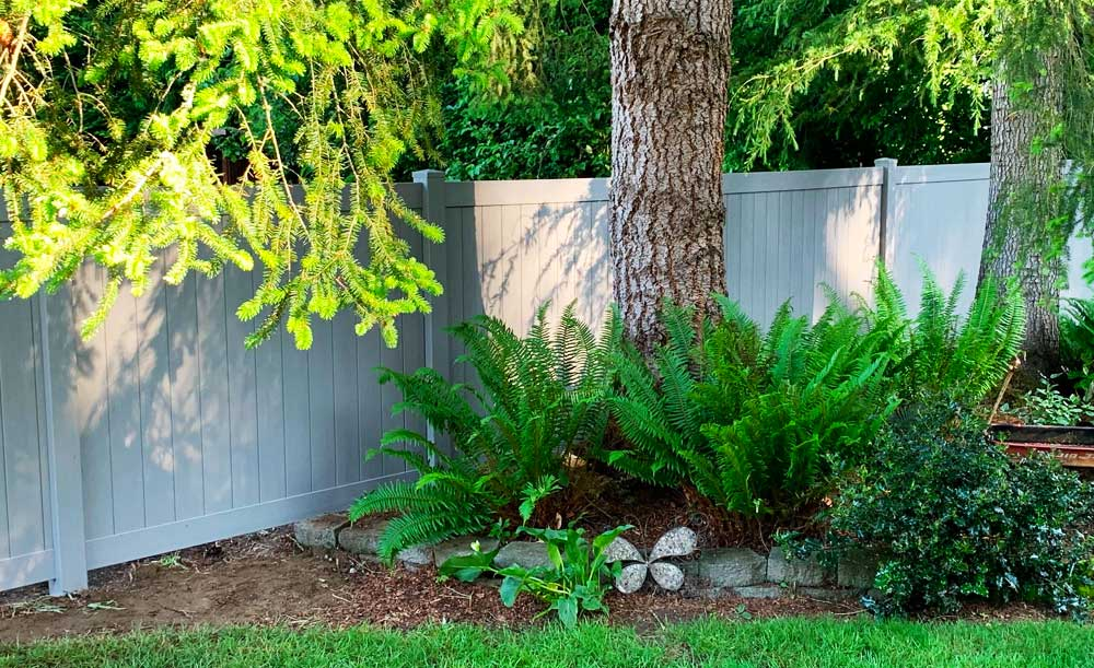 Textured Slate privacy vinyl fence
