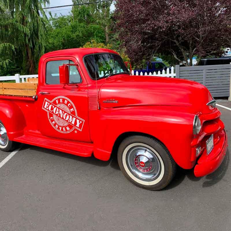Economy Fence's vintage truck