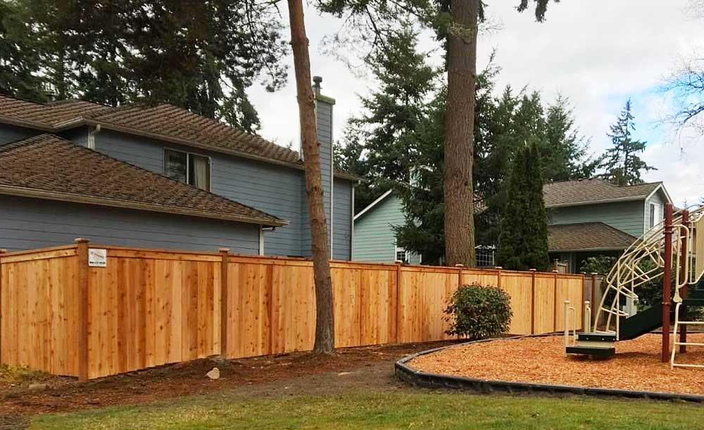Modified Panel style cedar fence