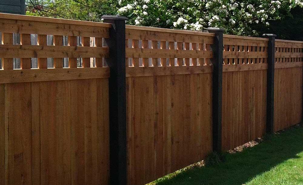 Park Hill style cedar fence