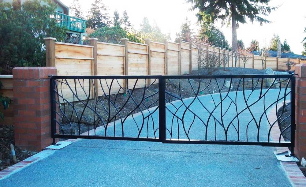 Custom iron double gate