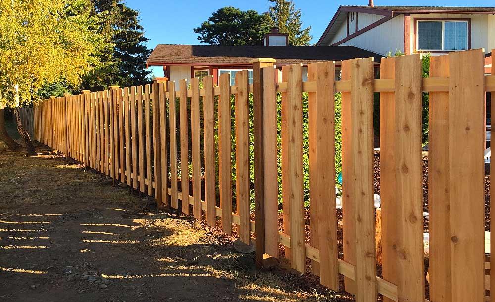Shadow Board style cedar fence
