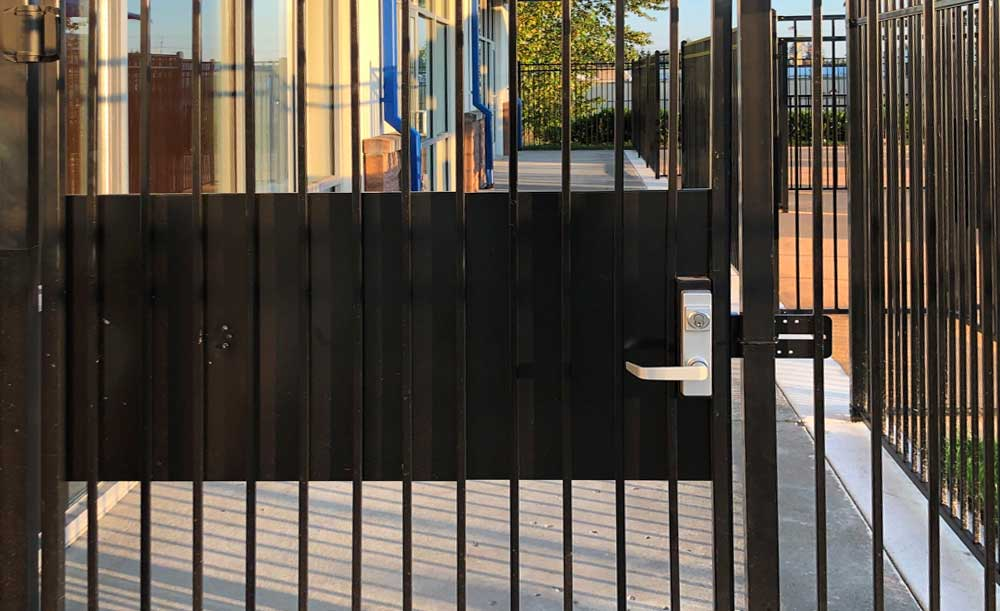 Iron security gate