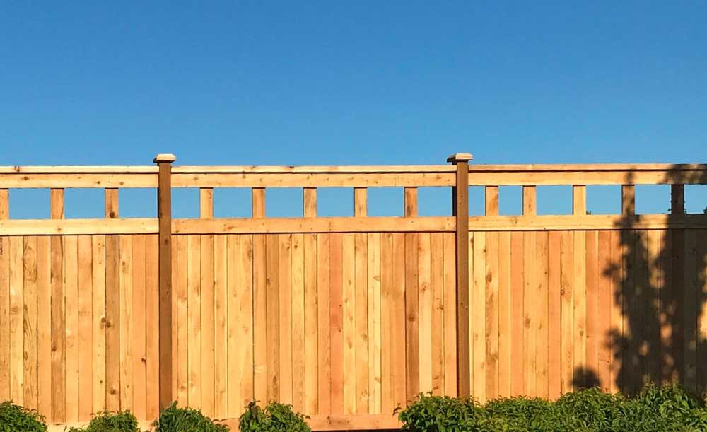 Lexington style custom cedar fence
