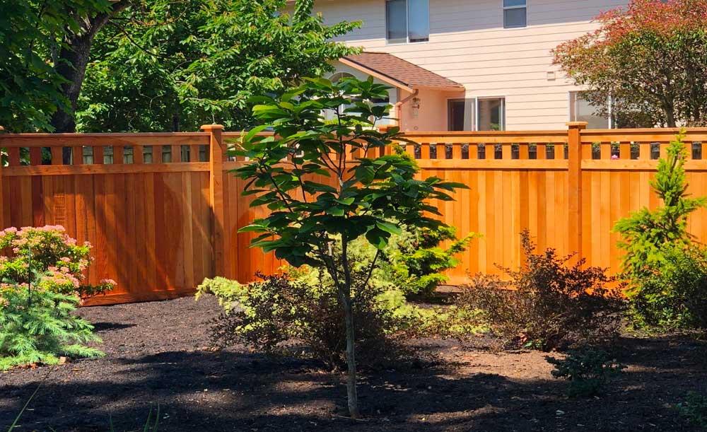 Lexington style cedar fence