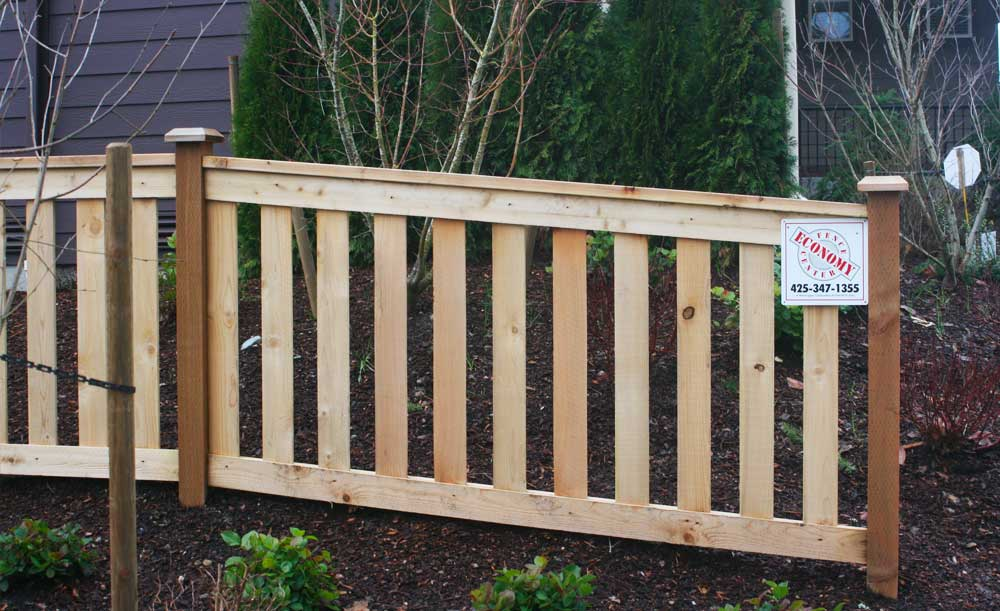 Full Panel style cedar fence with space