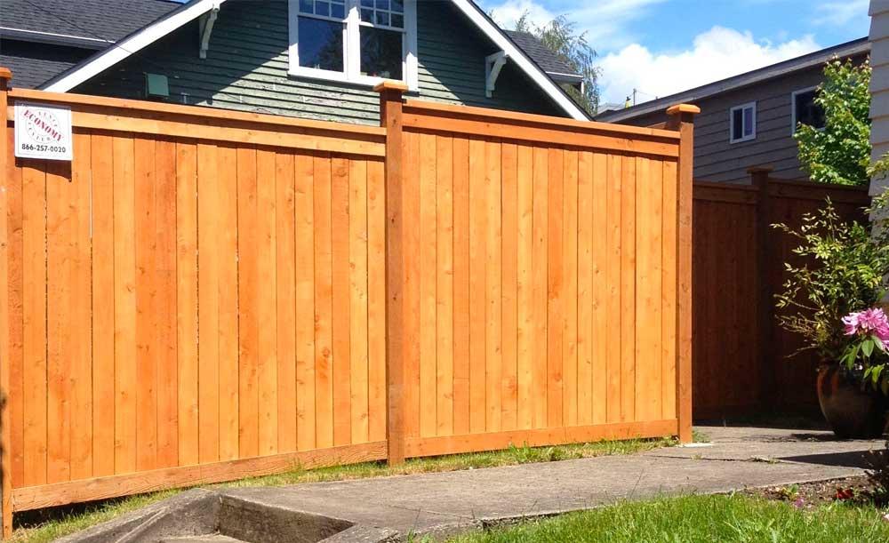 Full Panel style cedar fence