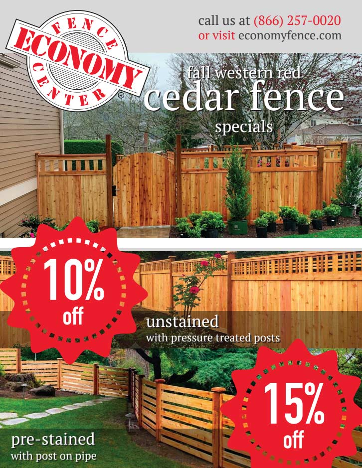 Western Red Cedar Fence Sale